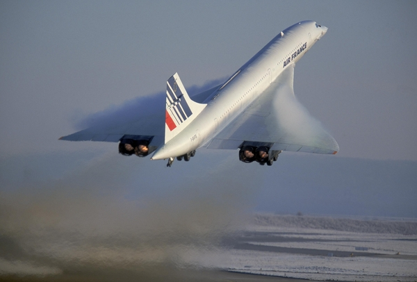 Concorde d'Air France au décollage