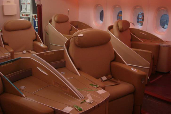 Air france photos de l 39 int rieur de l 39 a380 actualit for Interieur frans