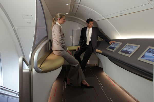 Air france toutes les photos du premier a380 actualit for A380 air france interieur