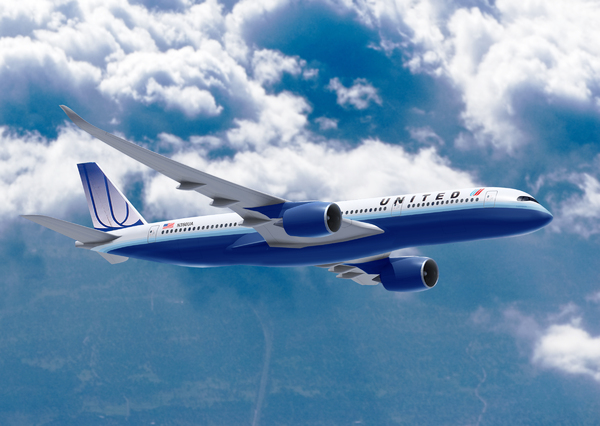 Airbus A350 aux couleurs de United Airlines