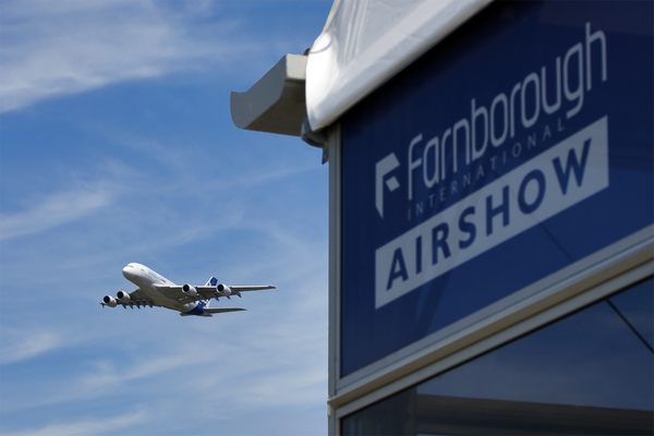 L'A380 à Farnborough