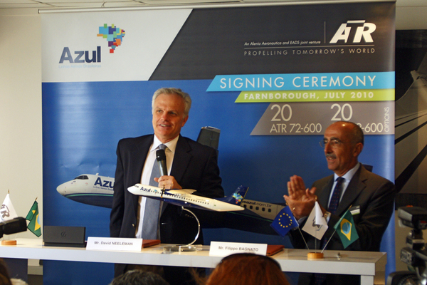 David Neeleman, PDG d'Azul à Farnborough