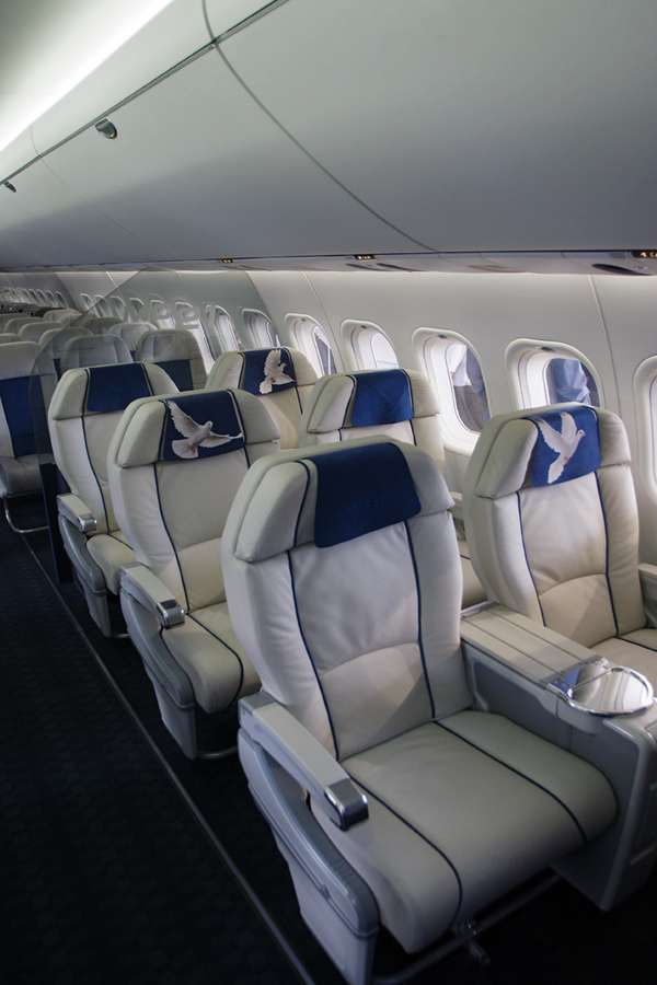 Business Class dans la cabine du MC-21