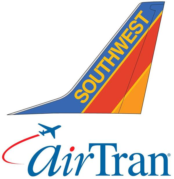 Logos de Southwest Airlines et AirTran Airways
