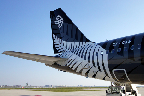 "Livraison de l'A320 d'Air New Zealand ""Crazy About Rugby"""