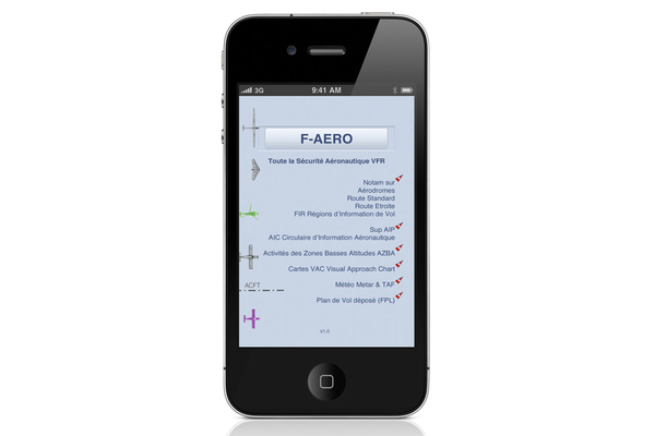 Application F-AERO sur iPhone