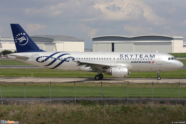 Airbus A320 Air France couleur SKYTEAM
