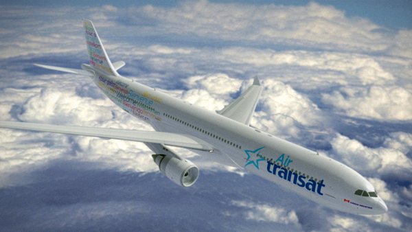 Air transat change sa livrée