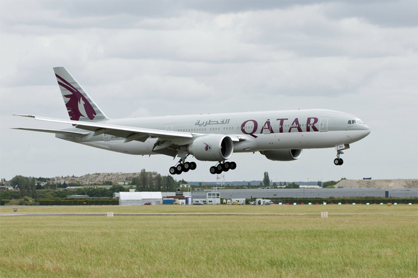 Boeing 777-200LR de Qatar Airways au Bourget 2011