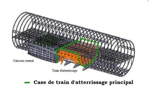 Case de train d'atterrissage principal de l'Airbus A350