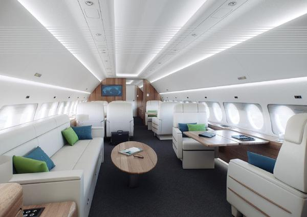 Cabine du Sukhoi Business Jet