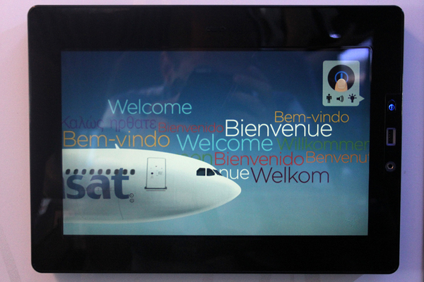 Ecran tactile Air Transat