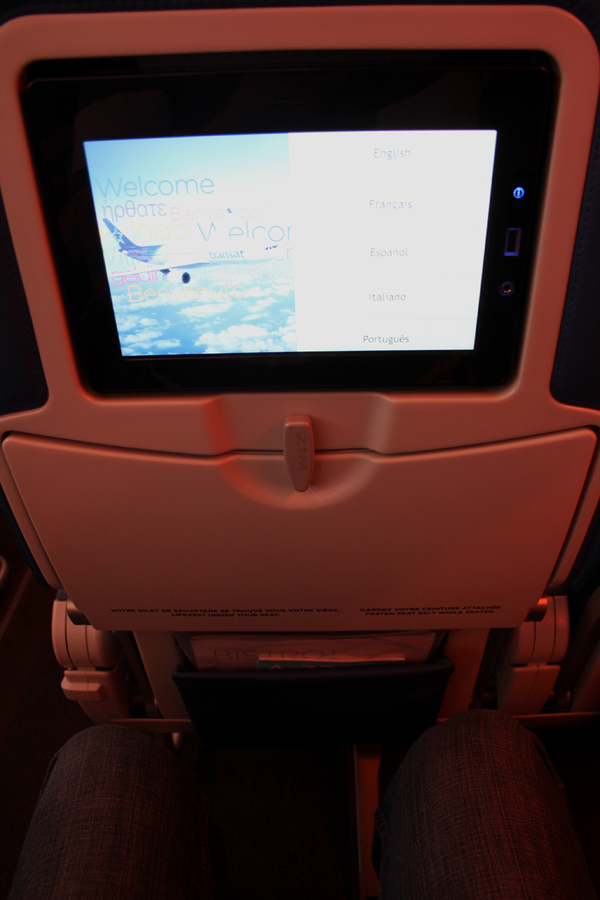 Classe econmique place passager Air Transat
