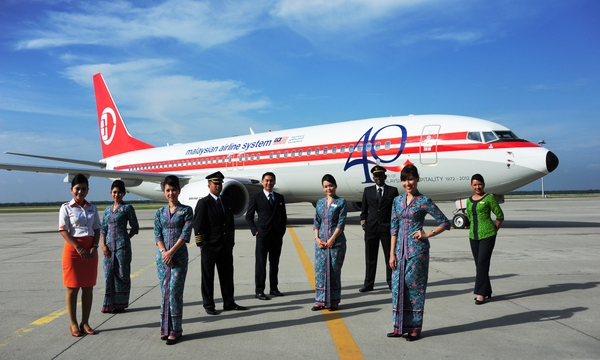 Boeing 737 Malaysia Airlines 40 ans