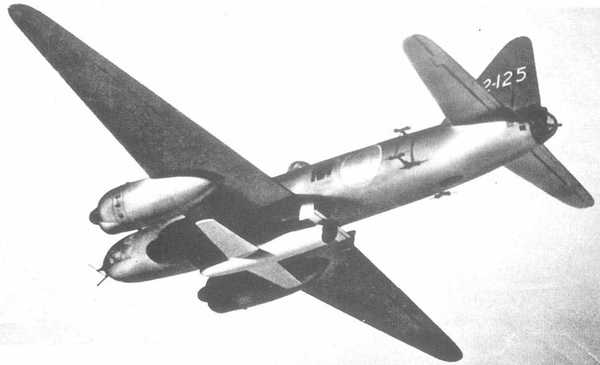 G4M2 Betty Model 24J, portant une bombe volante Okha
