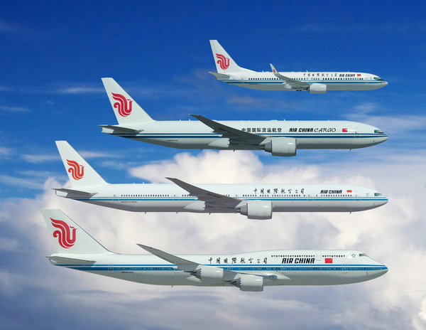 Boeing 737, 777, 747 Air China
