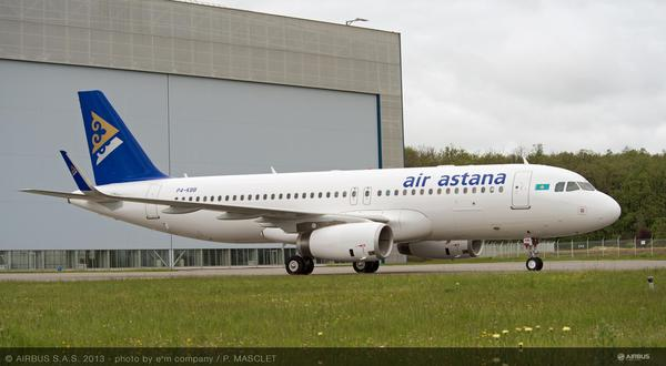 Airbus A320 sharklets Air Astana