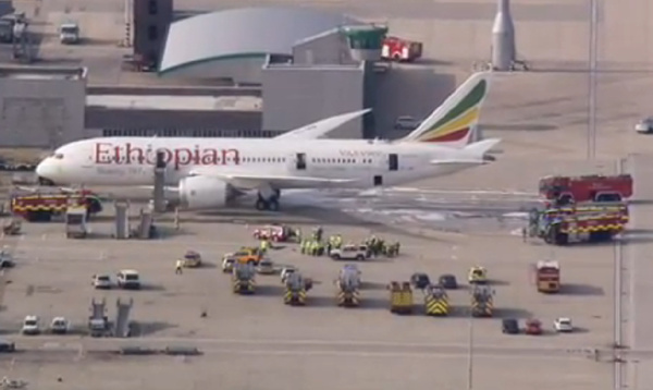 Incendie Boeing 787 Ethiopian Airlines à Londres Heathrow
