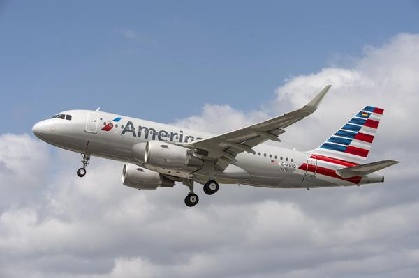 Airbus A319 sharklets American Airlines