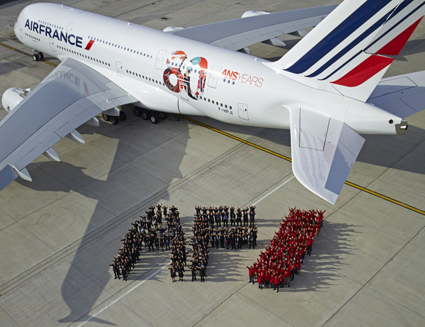 Air France A380 logo 80 ans