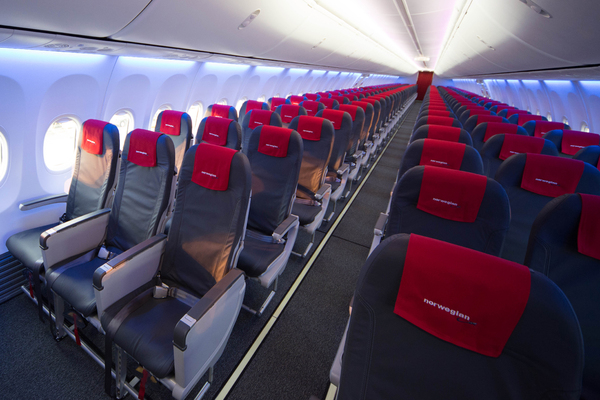 Boeing 737 Norwegian Air Shuttle Sky Interior