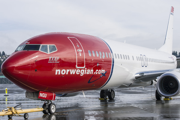 Boeing 737 Norwegian Air Shuttle 1000th Sky Interior