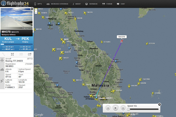 Vol MH370 Malaysia Airlines