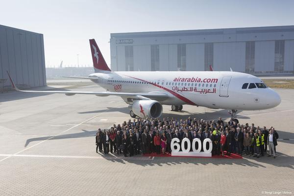 6000 th Airbus A320 Air Arabia A6-ANW