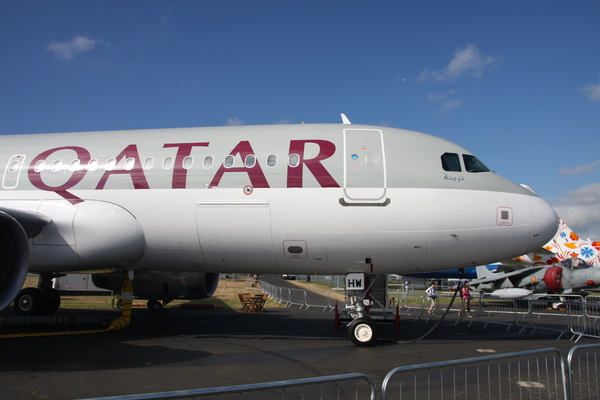 Airbus A320 sharklet Qatar Airways