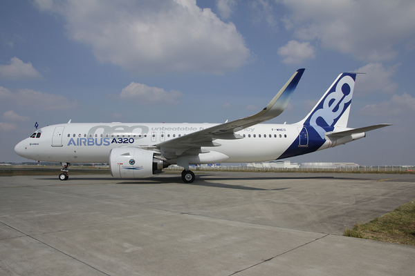 Atterrissage Airbus A320neo