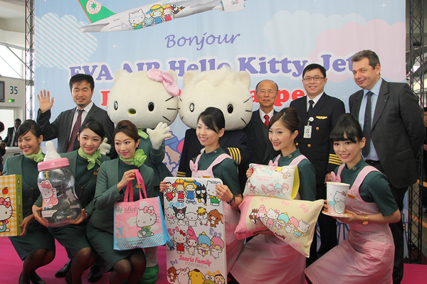 Cérémonie Hello Kitty Eva Air