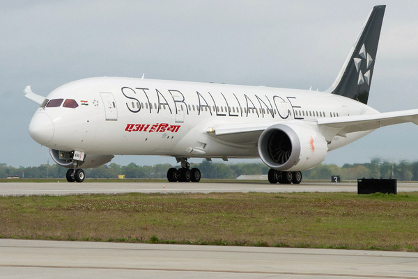 Boeing 787 Air India livrée Star Alliance