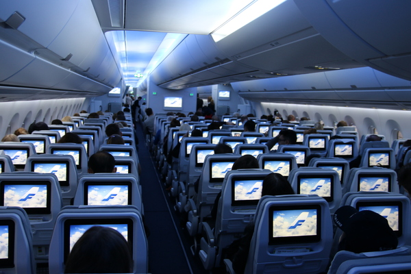 Bienvenue bord de l 39 airbus a350 finnair photos et for L interieur d un avion