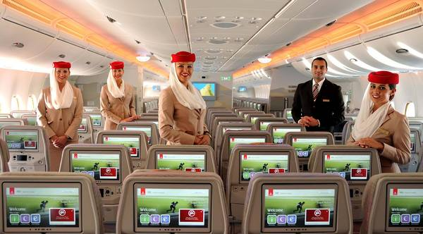 Cabine A380 Emirates 615 passagers
