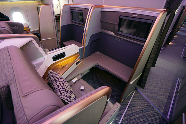 Classe Affaires de l'AAirbus A350 de Singapore Airlines
