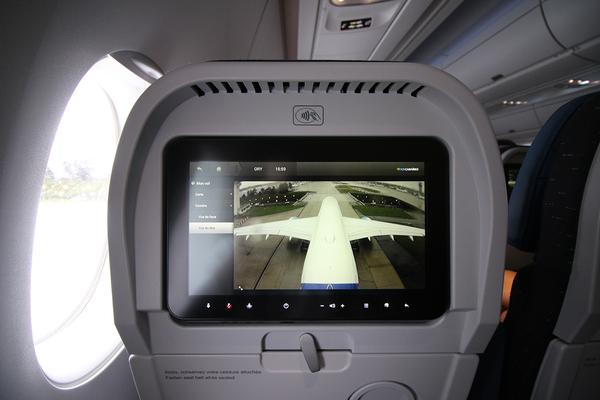 Vol inaugural airbus a350 air cara bes m dias aeroweb for Air france interieur classe economique