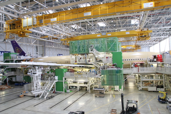 Chaine assemblage Airbus A350