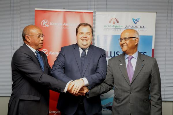 Signature partenariat Air Austral, Air Madagascar et Kenya Airways