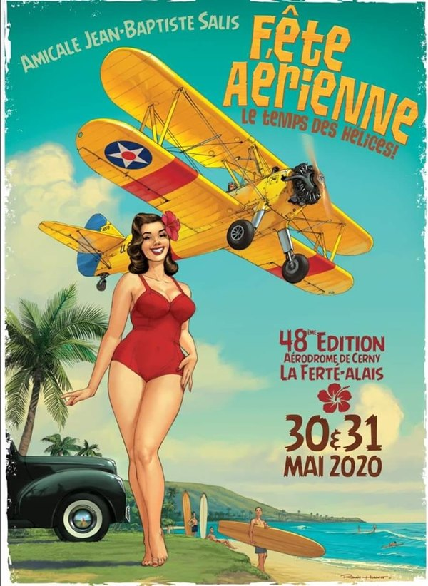 Affiche 48e édition meeting Cerny La ferté-Alais