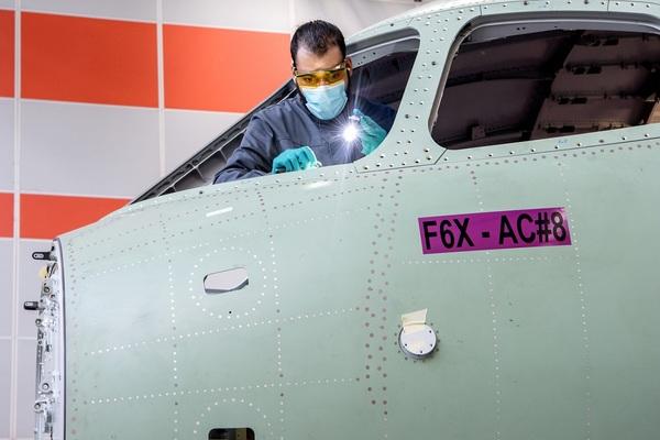La production du Falcon 6X progresse Actualité