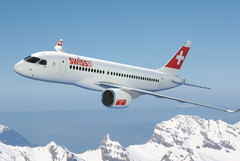 CSeries CS100 aux couleurs de Swiss
