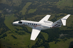 Un Cessna Citation CJ4 en vol