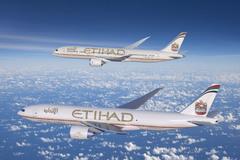 Boeing 787-900 et 777 freighter Etihad