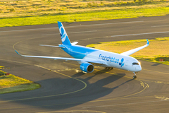 Airbus A350 french blue