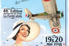 Affiche 46e édition meeting Cerny La ferté-Alais