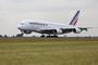 Atterrissage du deuxième Airbus A380 d'Air France à Johannesbourg