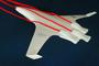 SAX-40 : Le flux d'air est décéléré et arrive aux entrées d'air à la même vitesse que la vitesse de croisière de l'avion