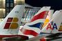 Logos d'Iberia, British Airways et American Airlines