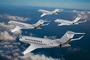 Famille Global de Bombardier aux couleurs de NetJets