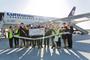 Cérémonie Lufthansa liaison Bordeaux-Francfort